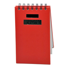Notebook with Calculator and Sticky Notes