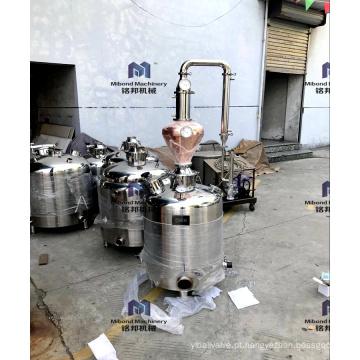 Coluna da destilação da casa do álcool do equipamento da destilaria da vodca do uísque de 100L 200L