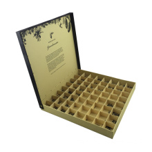 Black Paper Superior Chocolate Box with Flap