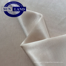 Tissu interlock en tricot de trame brillant en polyester FDY doublé d'une robe en soie