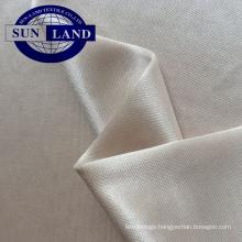 Silk feeling dress lining FDY polyester shining weft knitting interlock fabric