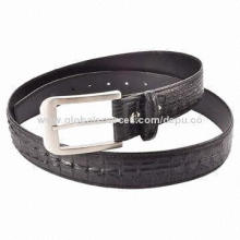 Men's Ostrich Leather Belt with High-end Quality and Fashion Style, Casual Wearing, No Age Limited