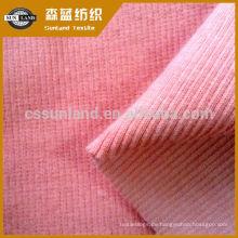 stricken Sie Baumwollspandex französisch 2 * 2 Rippengewebe für Kleidung