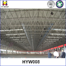 Steel structure space frame open warehouse prefabricated