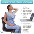 Cojín de asiento para silla de oficina, 100% espuma viscoelástica, almohadilla firme para el coxis, coxis, ciática, alivio del dolor lumbar, corrector de postura contorneada para coche