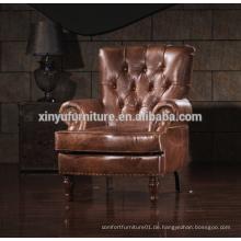 Französische antike Stil Polster Lounge Armlehne Sofa Stuhl A628
