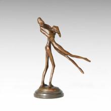 Abstrakte Statue Tänzer Liebhaber Bronze Skulptur Tple-045