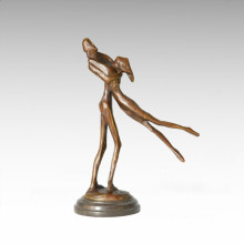 Abstract Statue Dancer Lovers Bronze Sculpture Tple-045