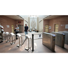 304 Stainless Steel Access Control System Pedestrian Powder Coated Tripod Turnstile Gate