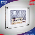 Wall Mounting Acrylic Photo Frame, PMMA Display