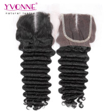 Middle Part Brazilian Deep Wave Lace Closure
