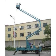 plataforma de trabalho articulada auto-propulsionada articulada / plataforma de trabalho aéreo articulada rebocável montada em camião