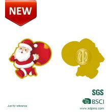 Pin de la lapela de la Navidad de la impresión del metal para el regalo (HST-BS-119)