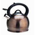 Chaleira de chá de café com fundo de fogão de indução de aço inoxidável