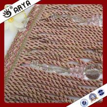 2016new perlas de diseño y franja de borla para la decoración de la cortina y la otra materia textil casera