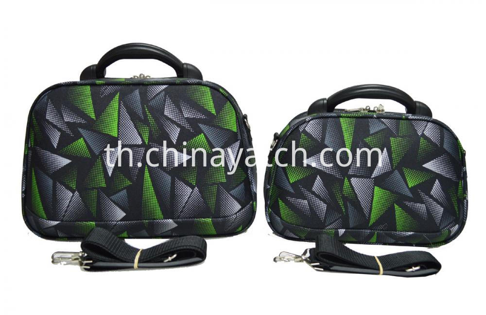 Cosmetic Bag with Plastic Handle