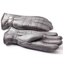 Herrenmode Schaffell Leder Motorrad Fahren Handschuhe (YKY5188-3)