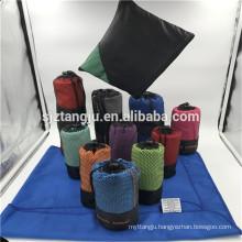 Super Cheap Gym Towel with Zip Pocket, Hot Sale Microfiber Towel Gym