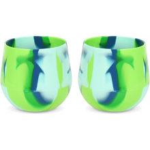 Vasos reutilizables inastillables de silicona personalizados