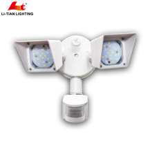 Adjustable Dual Head ETL Listed 20W LED Security Light Infared Motion Activated Outdoor Floodlight