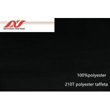 Schwarzer Taft aus 100% Polyester 210T Polyester
