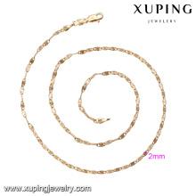 42576 chaîne en alliage de cuivre Designs de collier fantaisie en or de 4 grammes, collier plaqué or