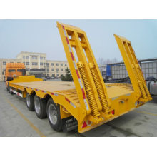 3 axles Low bed semi-trailer