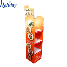 High Quality Advertising Cardboard Floor Pop Up Display Stand