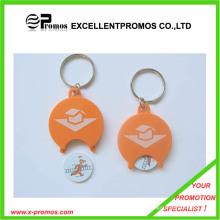 Porte-clés en caisse de supermarché promotionnel sur mesure (EP-K7898)