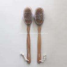 Cepillo de espalda de cuerpo de baño de madera de cerdas de jabalí natural
