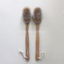 Escova de madeira natural do corpo do banho da cerda do javali