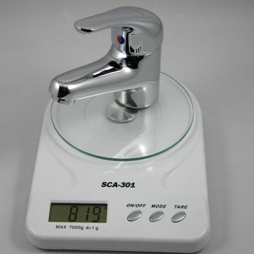 brass basin mixer weight