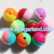 12/18/20/22/24/28 MM Acrylic Round Spacer Two Tone Beads
