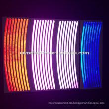 hohe sichtbare selbstklebende leuchten im dunklen Fahrrad Vinyl Aufkleber Aufkleber