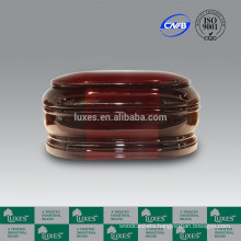 LUXES Classic Wooden Urns With Red Colored