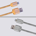 Nylon Woven Cable charge cable for iPhone