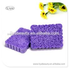 Фиолетовый лица Аморфофаллус коньяк слоеного Губка для глубокой очистки