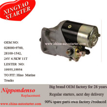 24V 4.5kw Hino Diesel Engine Starter 03504020210, 03504020211