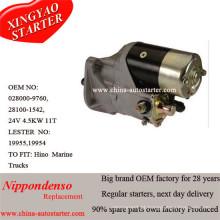 Nippondenso Starter Motor 0280009760 para Hino 24V, 4,5kw, 11t