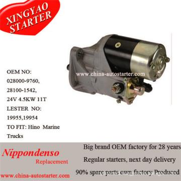 Hino Heavy Truck Used 4.5kw 24V Starter Lester 19955
