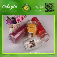 7 일 Religous Jar Glass Candle