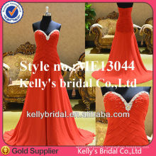 new style sweetheart neckline with beading edge red eveing dresses