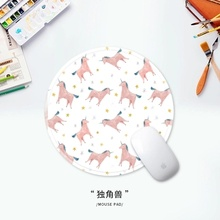 Little white bear round mouse pads