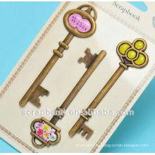 claves antiguas para la decoración del libro de recuerdos/de metal