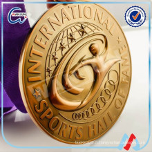 Médaille de bronze religieuse en or 3D 2016