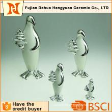 Plating Ceramic Penguin Craft para la decoración del hogar