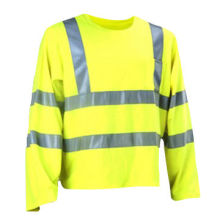 Reflective Safety Shirt, Made of 100% Polyester PU Coated Fabric
