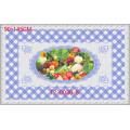 90 * 145 centímetros quente Popular PVC impresso Toalha de Mesa Transparente de Design Independente (cor integral)