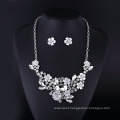 Clear Crystal Rose and Rabbit Sharp Necklace Set for Women
