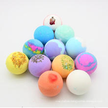 OEM Logo High Quality Packaging Balls Skin Cleansing Fizzy Vegan 100% Natural Bath Bombs Gift Set for Girls